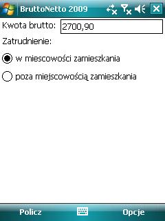 BruttoNetto Windows Mobile 1